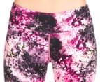 Calvin Klein Performance Women's Blackthorn Print Crop Tight - Day Glow Combo 3