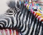 Zebra Couple 70x70cm Oil Painting Canvas Wall Art 4