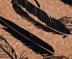 Cooper & Co. Feather Design Placemat 4-Pack - Brown 5