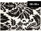 Stunning Pattern 280 x 190cm Rug - Black/Off White 1