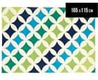 Creative Kids 165 x 115cm Star Stripe Rug - Multicoloured 1