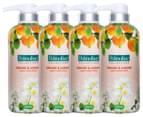 4 x Palmolive Collections Liquid Hand Wash Orange & Jasmine 420mL 1
