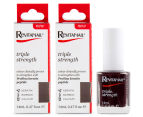 2 x Revitanail Triple Strength Nail Enamel Black Plum 14mL 1