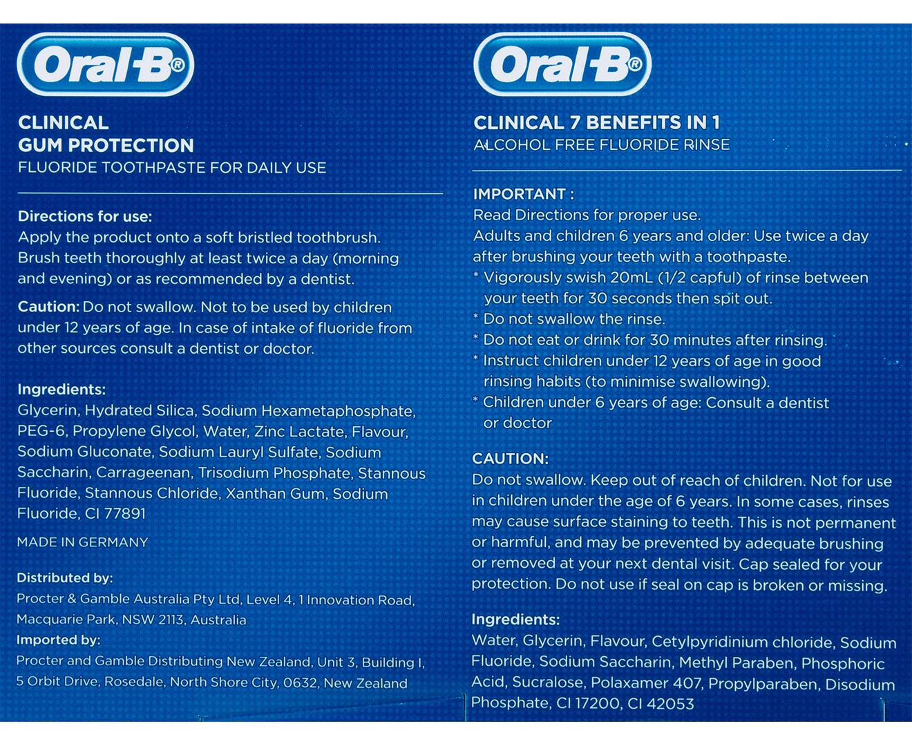 Oral-B Pro 500 CrossAction Power Brush Regimen Kit