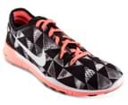 Nike Women's Free 5.0 Tr Fit 5 PRT - Black/Metallic/Silver 2