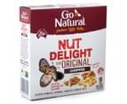 2 x Go Natural Snack Bars Nut Delight 175g 5pk 3