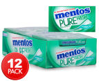 12 x Mentos Pure Fresh Sugarfree Spearmint Gum 25g 1