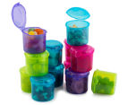 Sistema 120mL Klipo Round Coloured Container 12-Pack - Multi 3