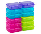 Sistema 200mL Klipo Rectangular Coloured Container 12-Pack - Multi 2
