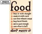 Food Don't Waste It 59x40cm Canvas Wall Art 1