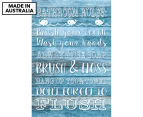 Bathroom Rules 59x40cm Canvas Wall Art 1