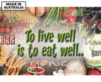 Live Well Eat Well 59x40cm Canvas Wall Art 1