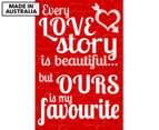 Love Story Reel 59x40cm Canvas Wall Art 1
