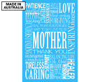 Mother Words 59x40cm Canvas Wall Art 1