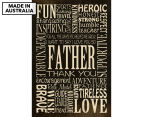 Father Words 59x40cm Canvas Wall Art 1