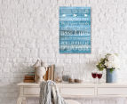 Bathroom Rules 59x40cm Canvas Wall Art 2