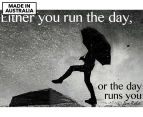Run Your Day 59x40cm Canvas Wall Art 1