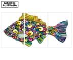 Paisley Fish 45x30cm 3-Part Canvas Wall Art Set 1