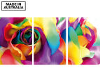 Silk Flowers 45x30cm 3-Part Canvas Wall Art Set 1