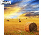 Bales Of Hay Sunshine 75x75cm Canvas Wall Art 1