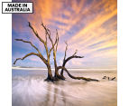 Driftwood Streaks 75x75cm Canvas Wall Art 1
