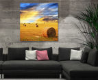 Bales Of Hay Sunshine 75x75cm Canvas Wall Art 2