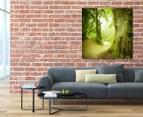 Green Forest 75x75cm Canvas Wall Art 2