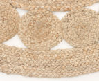 Contemporary 200x200cm Handmade Jute Rug - Natural 3