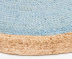 Contemporary 200x200cm Handmade Jute Rug - Blue 3