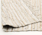 Handmade 320x230cm Leather & Jute Rug - White 4