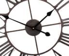 XL 60cm Vintage Wall Clock - Red/Black 3