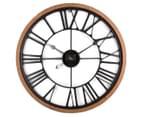 XL 60cm Vintage Wall Clock - Red/Black 6