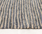 Handmade 400x80cm Leather & Jute Runner - Grey 3