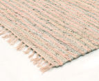 Handmade 400x80cm Leather & Jute Runner - Nude 2
