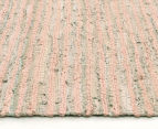 Handmade 400x80cm Leather & Jute Runner - Nude 3