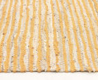 Handmade 300x80cm Leather & Jute Runner - Yellow 3