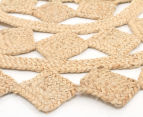 Tessellated Star 120cm Handmade Jute Rug - Natural 2