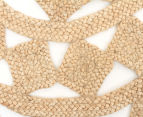 Tessellated Star 120cm Handmade Jute Rug - Natural 3
