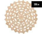 Tessellated Star 200cm Handmade Jute Rug - Natural 1