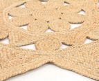 Star-Shaped 120cm Handmade Jute Rug - Natural 2