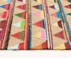 Bohemian 220x150cm Handmade Cotton & Jute Rug - Multi 3