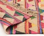 Bohemian 220x150cm Handmade Cotton & Jute Rug - Multi 4