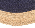 Contemporary 200cm Handmade Jute Rug - Navy 3
