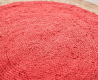 Contemporary 240cm Handmade Jute Rug - Cherry 2