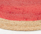 Contemporary 240cm Handmade Jute Rug - Cherry 3