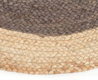 Contemporary 240cm Handmade Jute Rug - Charcoal 3