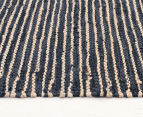 Handmade 320x230cm Leather & Jute Rug - Natural/Black 3