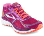 Brooks Women's Ghost 8 Shoe - Phlox/Phlox Pink/Fiery Coral 2