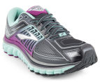 Brooks Women's Glycerin 13 Shoe - Anthracite/Ice Green/Holly Hock 2