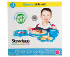 Steadyco Let's Eat 11-Piece Steady Table Set - Pink 6